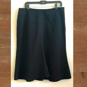 Giorgio Armani Black Wool Tulip Hem Skirt Size 14